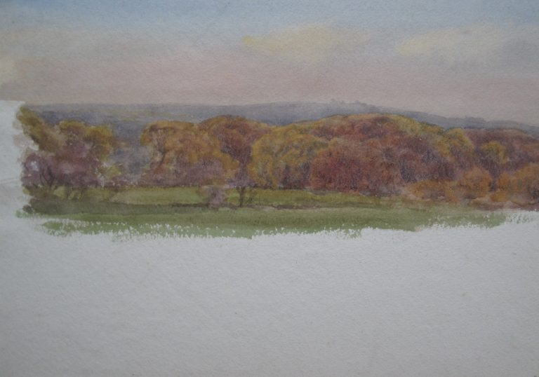 Charles James Adams 09 (Sketch showing autumnal trees)