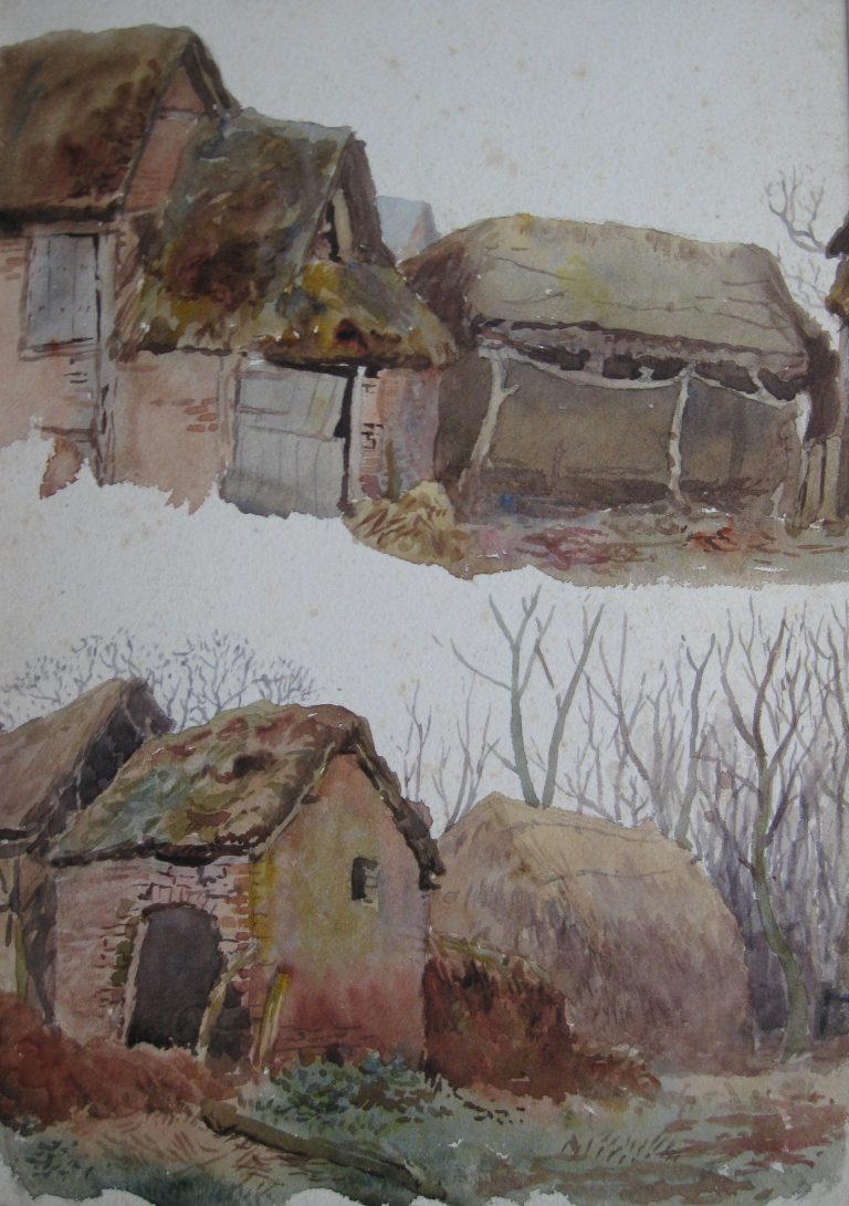 Charles James Adams 11 (Sketch of Farm buildings)