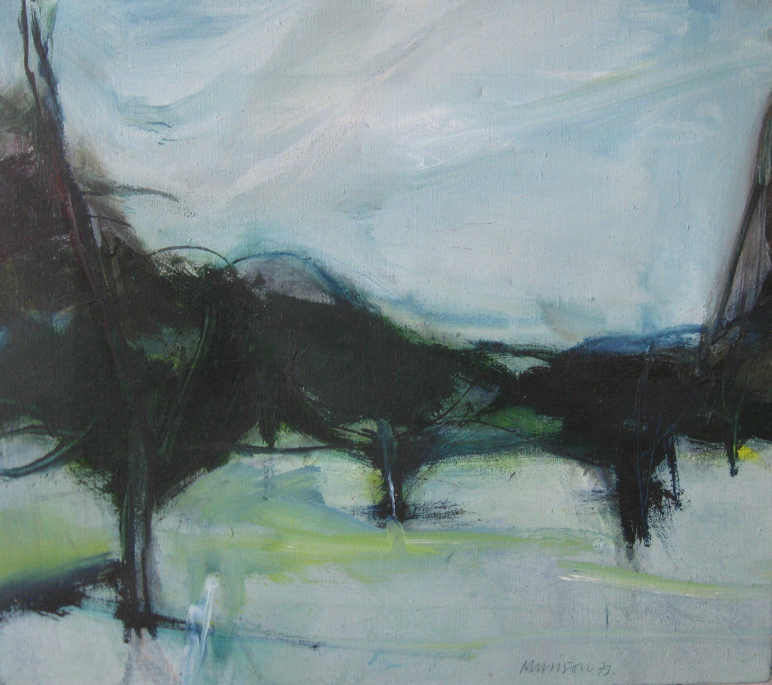 Neil Murison Inscribed, Italian Landscape verso